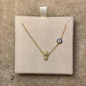 Jewelry - Gold plated Evil Eye Hamsa Necklace